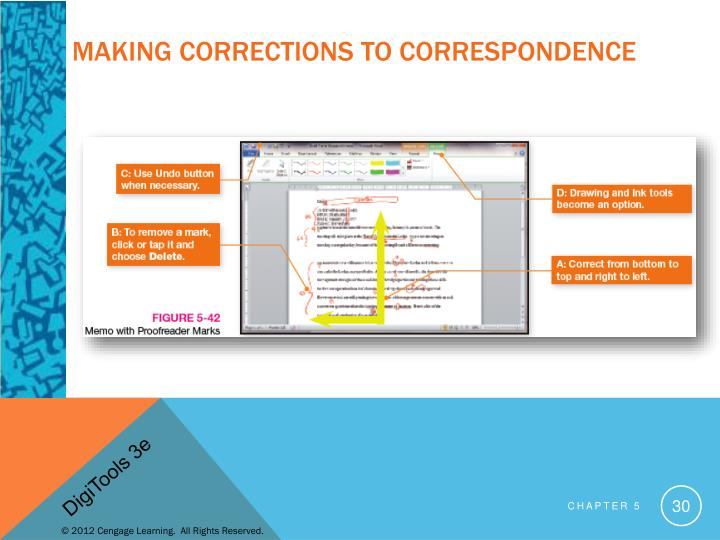 Making Corrections to Correspondence