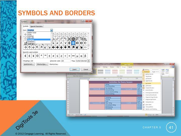 Symbols and Borders