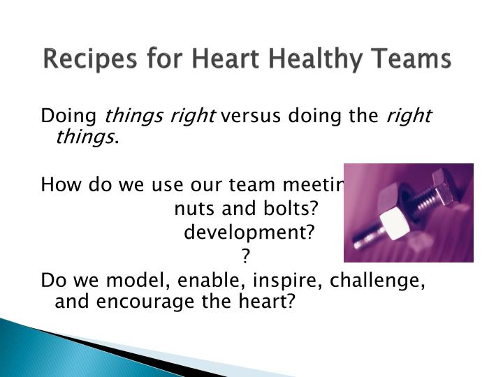 Recipes for Heart Healthy Teams