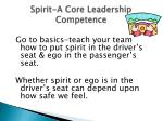 spirit a core leadership competence