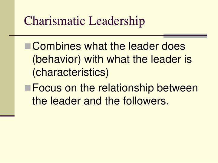 charismatic leadership characteristics We'll also look at the core elements of charismatic leadership theory and analyze  the characteristics leaders need to possess in order to be.