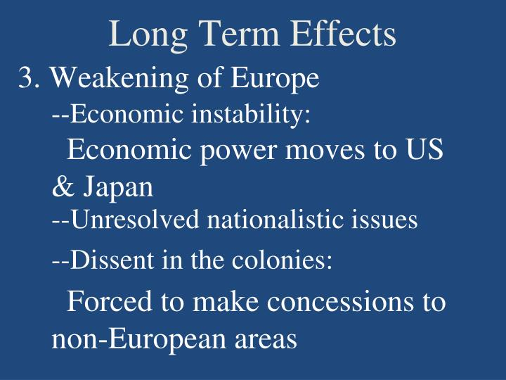 Long Term Effects