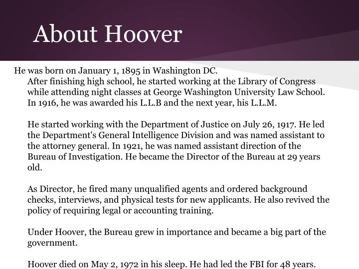 About Hoover