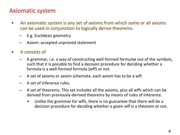 Axiomatic system