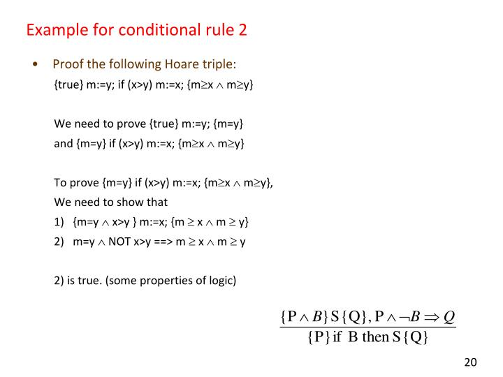 Example for conditional rule 2