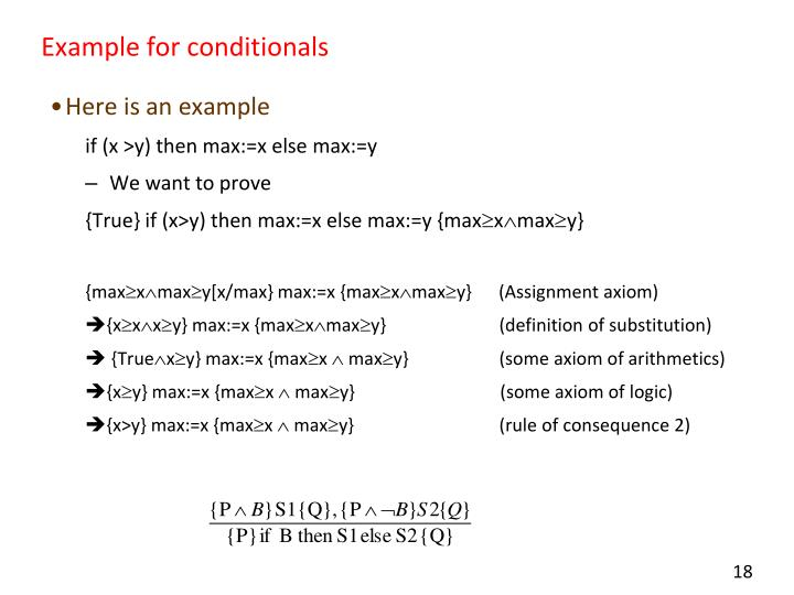 Example for conditionals