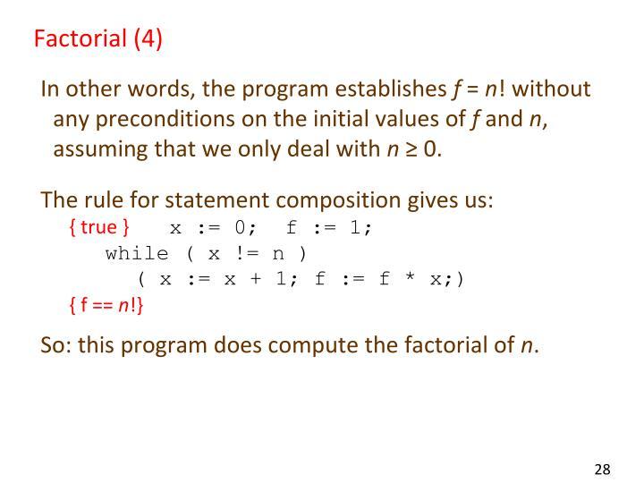 Factorial (4)