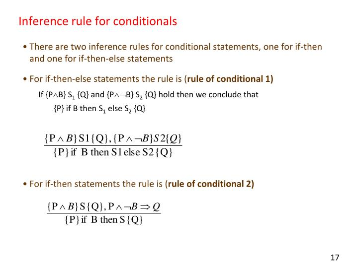 Inference rule for conditionals