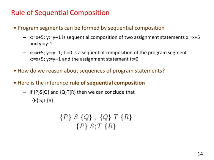 Rule of Sequential Composition