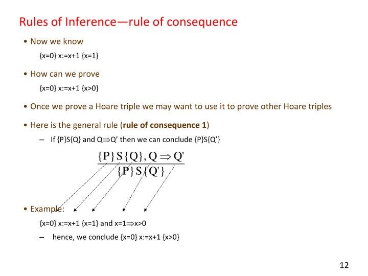 Rules of Inference—rule of consequence