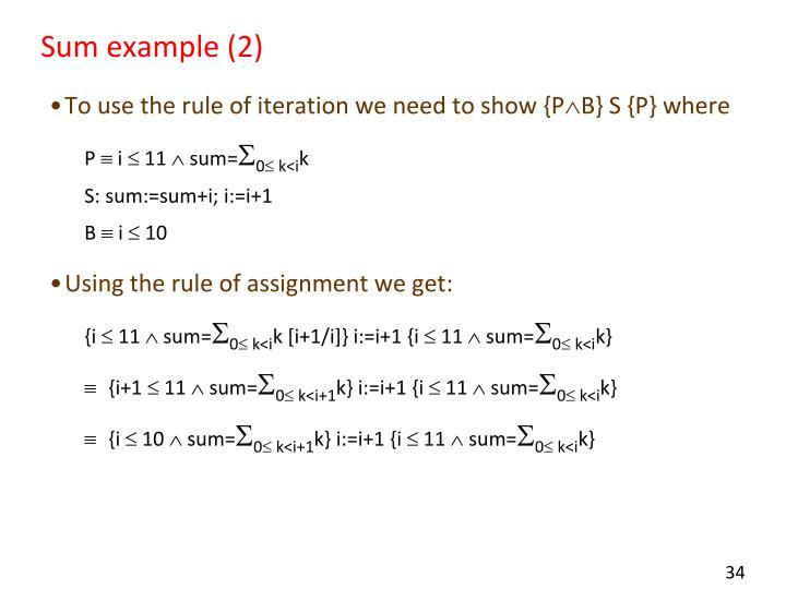 Sum example (2)