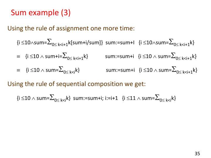 Sum example (3)
