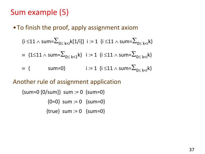 Sum example (5)
