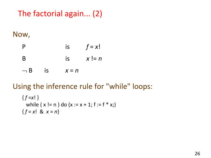 The factorial again... (2)