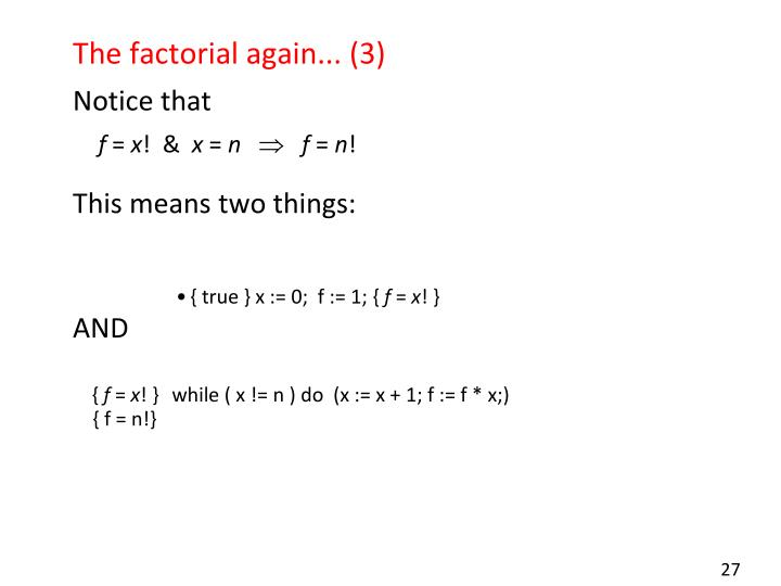 The factorial again... (3)