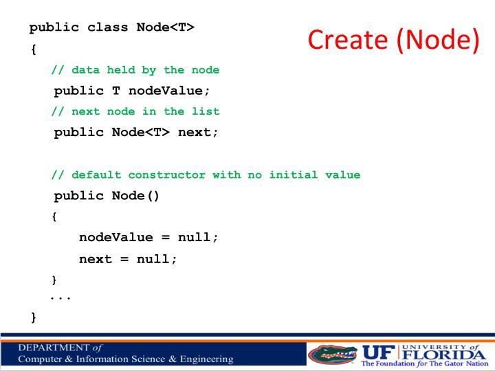 Create (Node)