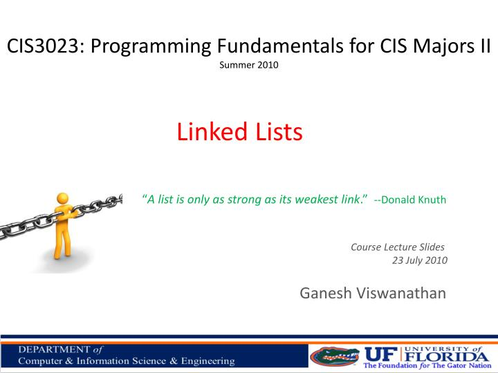 CIS3023: Programming Fundamentals for CIS Majors