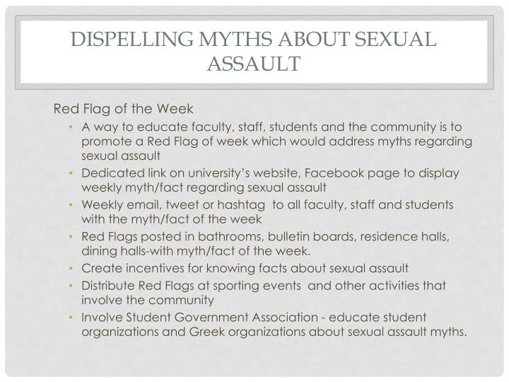 Dispelling Myths about Sexual Assault
