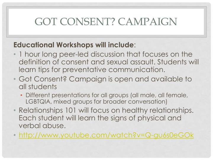 Got CONSENT? Campaign