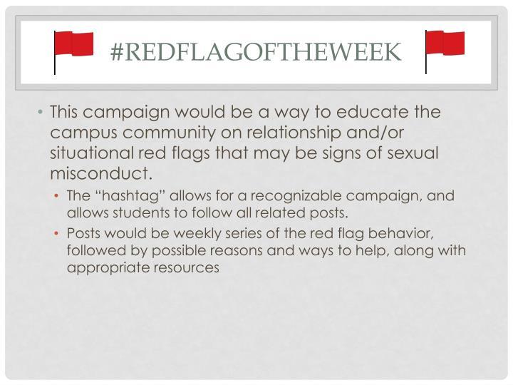 #redflagoftheweek