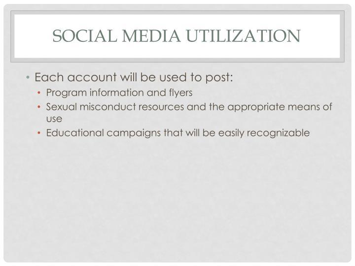 Social Media Utilization