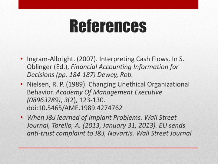 Ingram-Albright. (2007). Interpreting Cash Flows. In S.