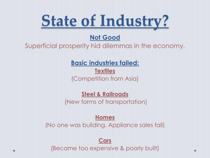 State of Industry?