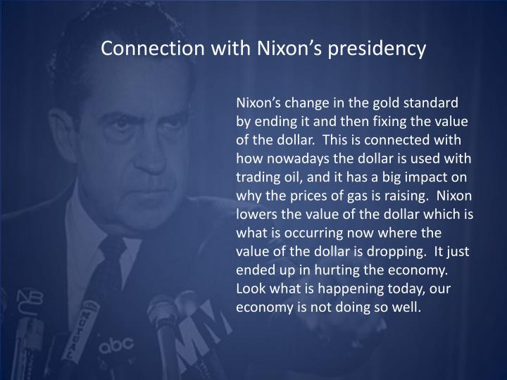 Connection with Nixon's presidency