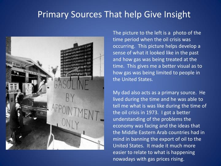 Primary Sources That help Give