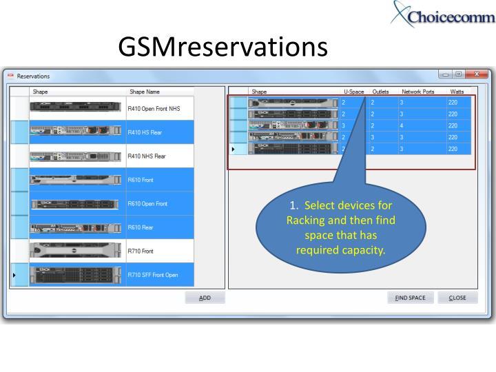 GSMreservations