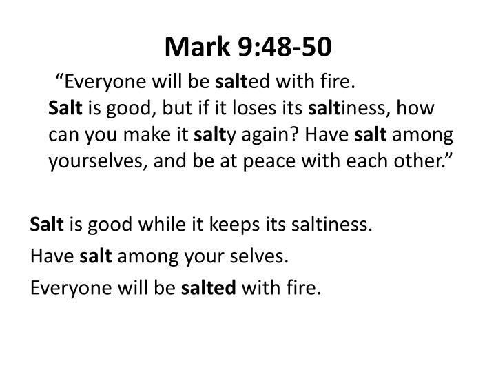 Mark 9:48-50