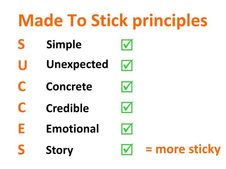 Made To Stick principles