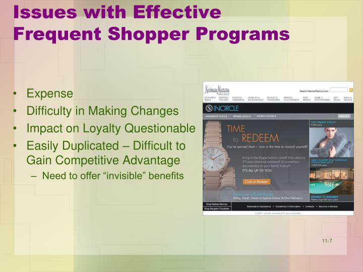 the frequent shopper program How to set up a mystery shopping program:  appraising the program a mystery shopper will make inquiries and observations according to the specifications of.
