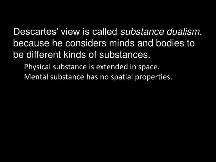 Descartes' view is called