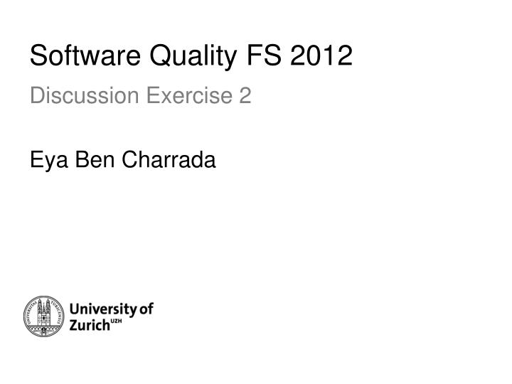 Software quality fs 2012