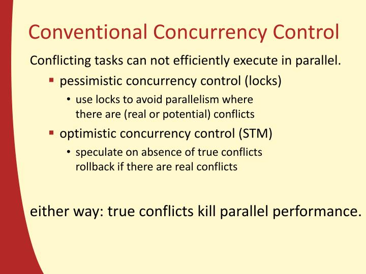 Conventional Concurrency Control