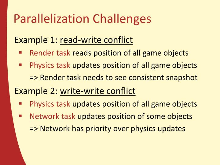 Parallelization Challenges
