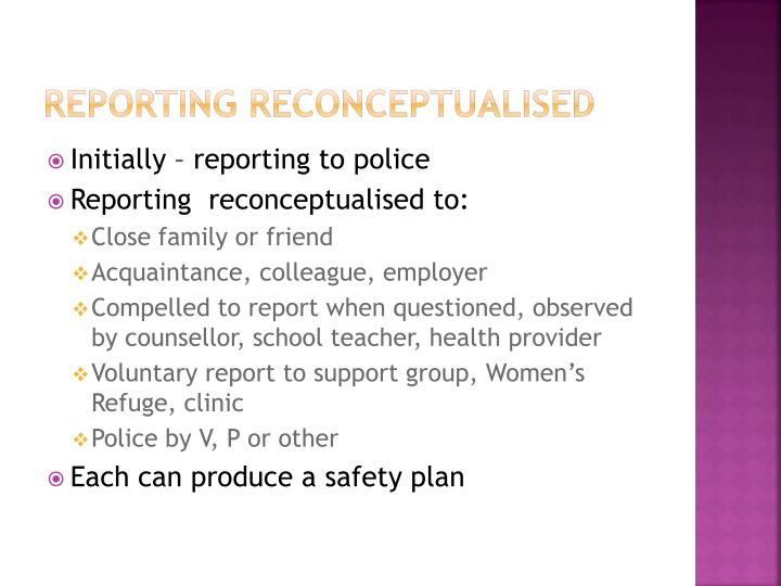 Reporting Reconceptualised