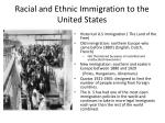 racial and ethnic immigration to the united states