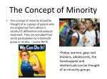 the concept of minority