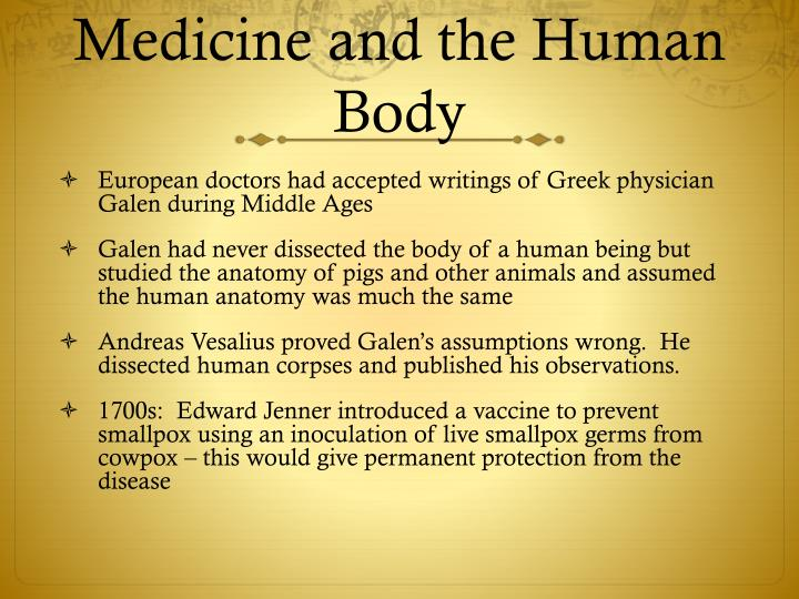 Medicine and the Human Body