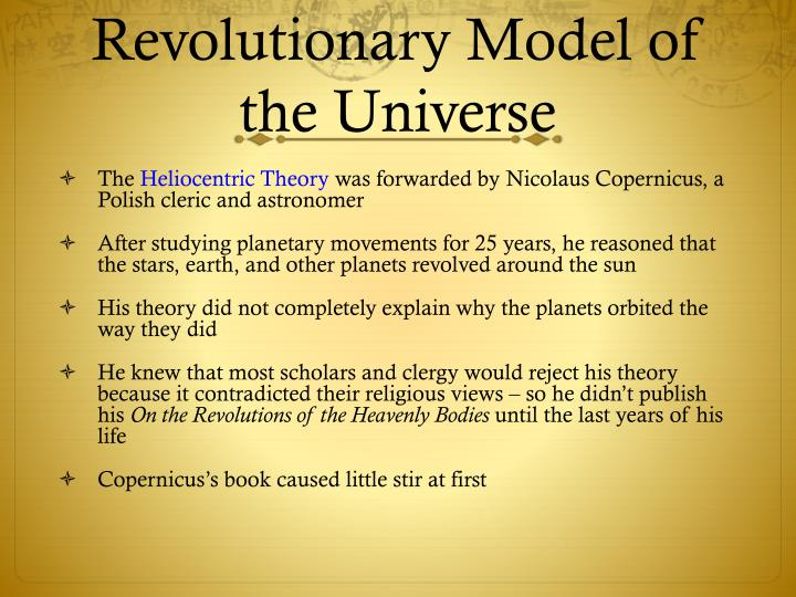 Revolutionary Model of the Universe