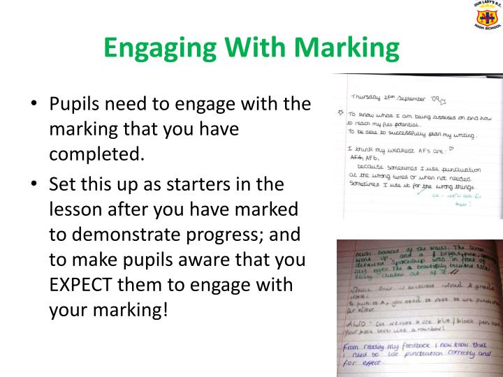 Engaging With Marking