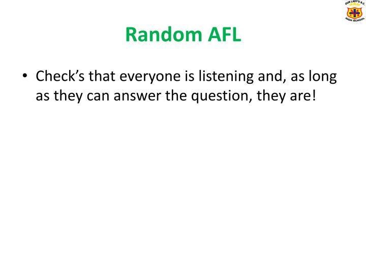 Random AFL