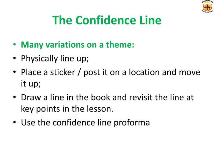 The confidence line