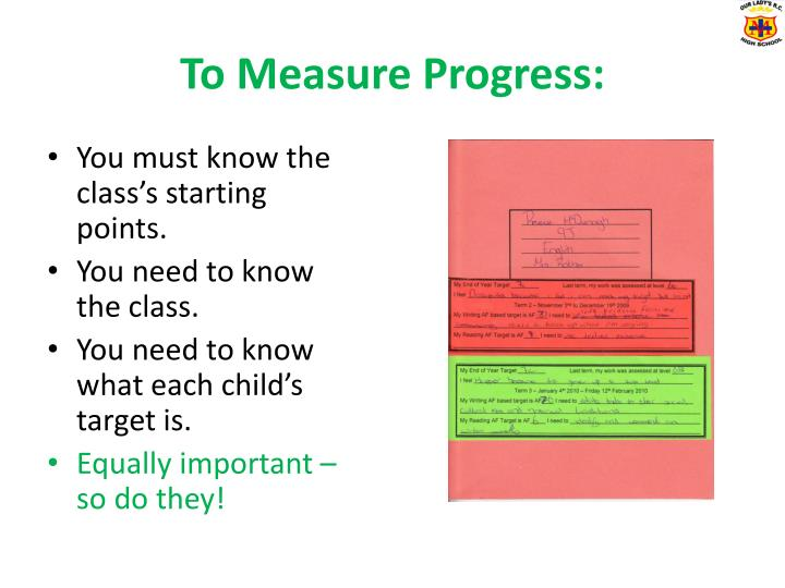 To Measure Progress:
