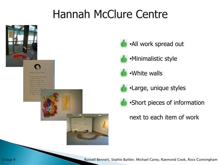 Hannah McClure Centre
