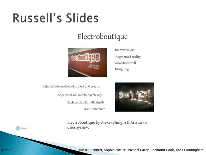 Russell's Slides