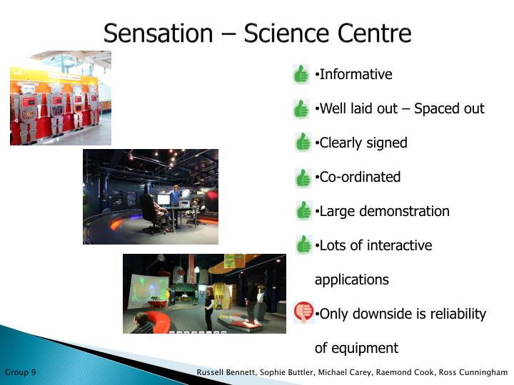Sensation – Science Centre