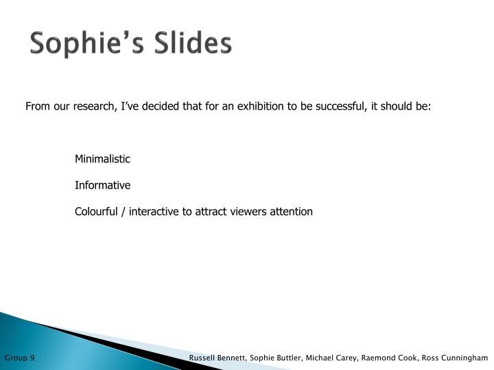 Sophie's Slides